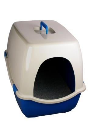 a covered litter box